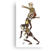 Levi, Hanji, and Erwin Tower - Attack On Titan Canvas Print