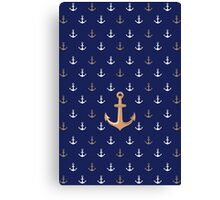Nautical Anchor Pattern Canvas Print