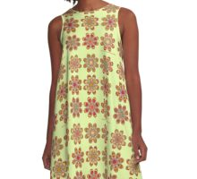 Tomato Foot Flowers A-Line Dress