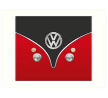 Special Red Volkswagen Camper Van Art Print