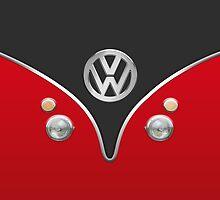 Special Red Volkswagen Camper Van by Boback Shahsafdari