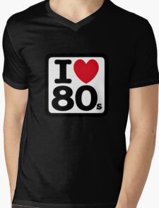 I love the 80's (eighties) Mens V-Neck T-Shirt