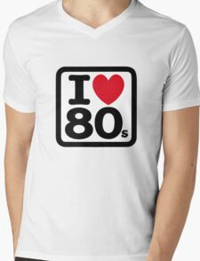 I love the 80's (eighties) Mens V-Neck T-Shirt
