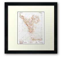 USGS TOPO Map Arizona AZ Childs Mountain 310850 1990 24000 Framed Print