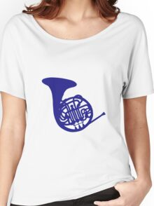 Blue french horn Women's Relaxed Fit T-Shirt