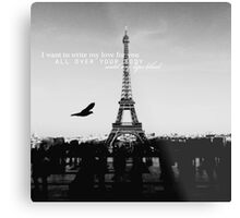love quote, B+W #1 Metal Print