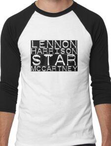The Beatles Lennon Harrison Starr McCartney Men's Baseball ¾ T-Shirt