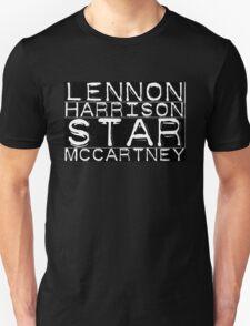 The Beatles Lennon Harrison Star McCartney Unisex T-Shirt
