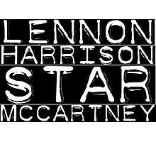 The Beatles Lennon Harrison Star McCartney Photographic Print