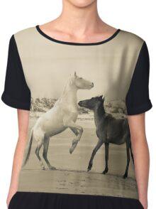 Wild Horses of Cumberland Island 2 Chiffon Top