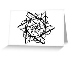 Subatomic Particle (Black) Greeting Card