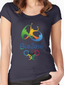 rio olympic Women's Fitted Scoop T-Shirt