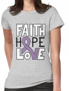 Faith Hope Love - Hodgkin's Lymphoma Awareness Womens Fitted T-Shirt