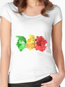 Buddha Water Colour Splatter Women's Fitted Scoop T-Shirt