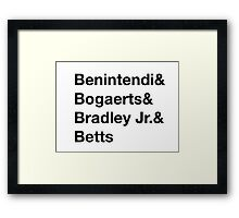 Boston Red Sox Young Players Framed Print