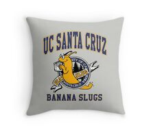 Santa Cruz Banana Slug Fiction Throw Pillow