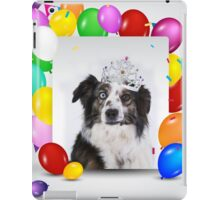 Australian Shepherd Dog Balloons Crown Birthday  iPad Case/Skin