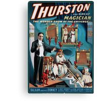 Performing Arts Posters Thurston the great magician the wonder show of the universe 1630 Canvas Print