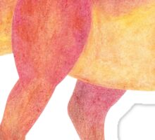 Tyrannosaurus Rex Dinosaur Quirky Colorful Prehistoric Cartoon Sticker