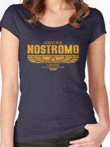 Alien Nostromo logo Women's Fitted Scoop T-Shirt