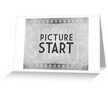 Retro Picture Start Frame Greeting Card