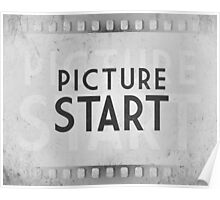 Retro Picture Start Frame Poster