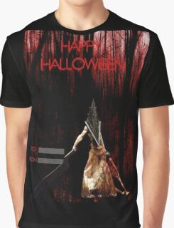 Pyramid Head wish you a happy Halloween Graphic T-Shirt
