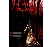 Pyramid Head wish you a happy Halloween Photographic Print