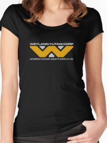 Aliens Weyland Yutani colony logo Women's Fitted Scoop T-Shirt