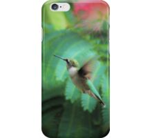 hummer in flight iPhone Case/Skin