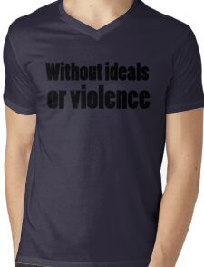 Bob Dylan Rock Lyrics Without Ideals Or Violence Mens V-Neck T-Shirt