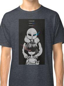 Undertale - Frisk and Sans Classic T-Shirt