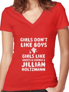 Girls like Jillian Holtzmann quote  Women's Fitted V-Neck T-Shirt