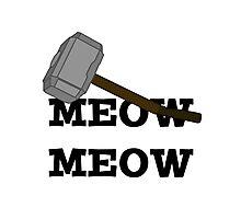 Meow Meow Mjolnir  Photographic Print