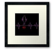 Heartbeat Megurina Luka Framed Print