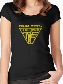 blade runner police crest Women's Fitted Scoop T-Shirt