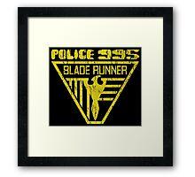 blade runner police crest Framed Print