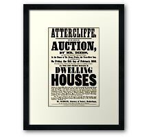 Attercliffe, Sheffield, Yorkshire, sale poster Framed Print