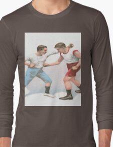 Vintage Boxing Manual Art Long Sleeve T-Shirt