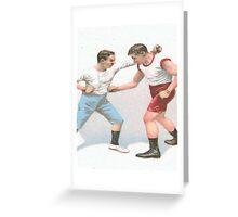 Vintage Boxing Manual Art Greeting Card