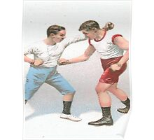 Vintage Boxing Manual Art Poster