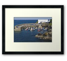 Coverack harbour Framed Print