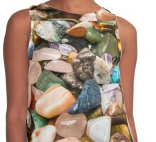 A collection of different Semiprecious Gemstones  Contrast Tank