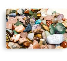 A collection of different Semiprecious Gemstones  Canvas Print