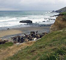 A smugglers beach. by Steve plowman