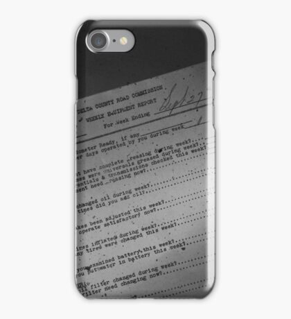 Old Paper iPhone Case/Skin