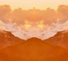 Mountain Mirror Sticker