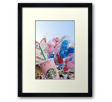 Pink Sips on Main St. USA Framed Print