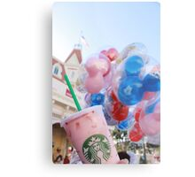 Pink Sips on Main St. USA Metal Print