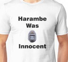 Harambe Was Innocent Unisex T-Shirt